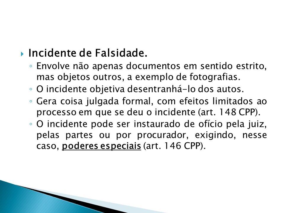 Incidente de Falsidade.