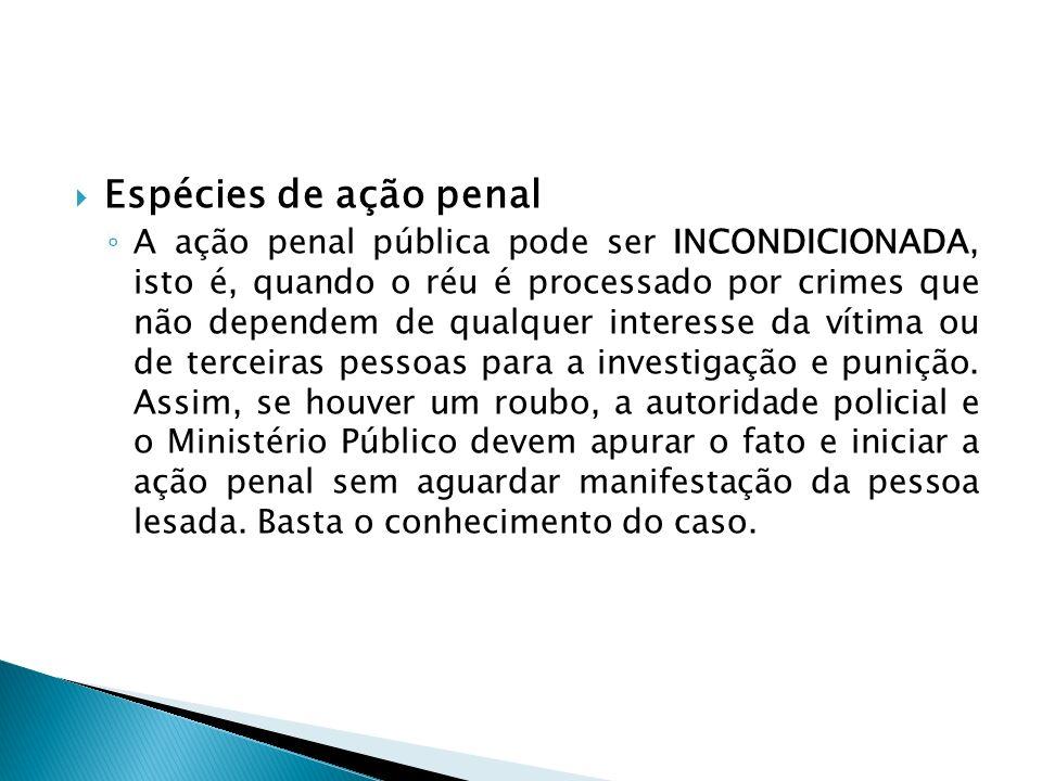 Espécies de ação penal