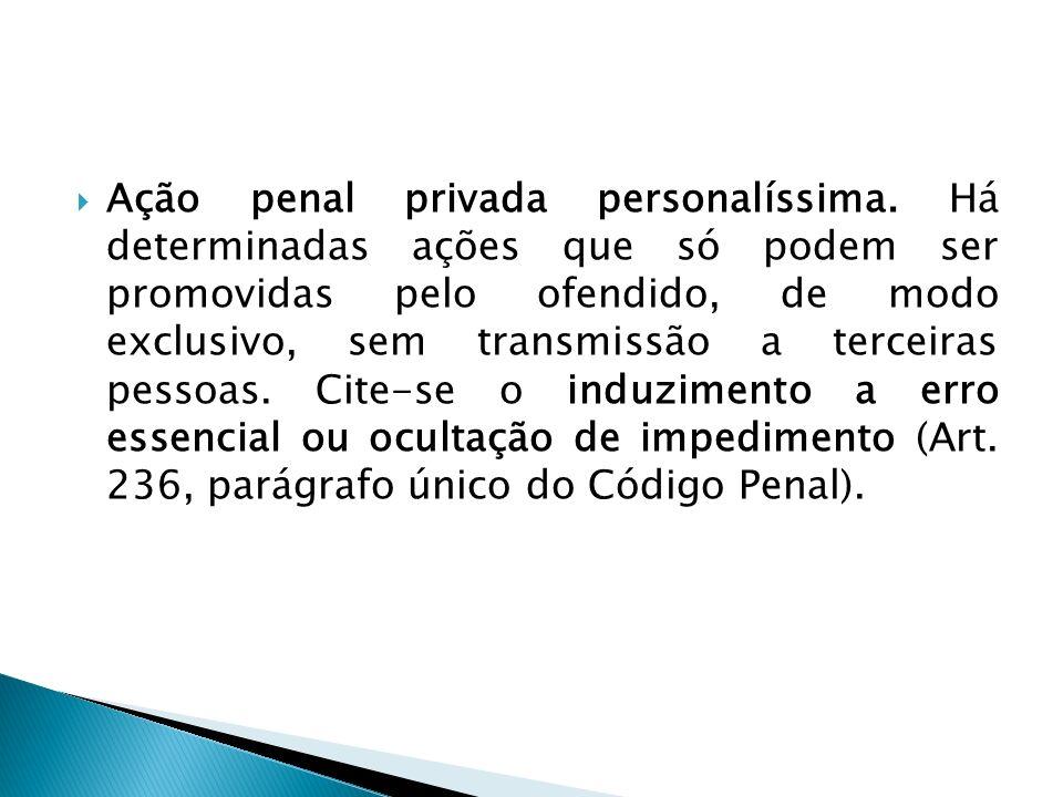 Ação penal privada personalíssima