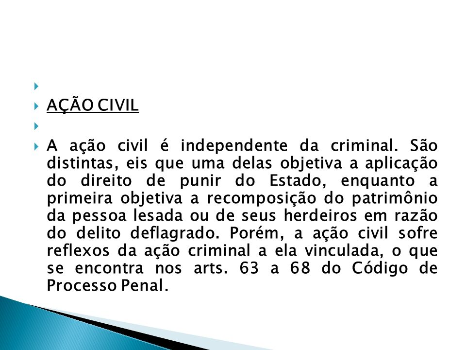 AÇÃO CIVIL.