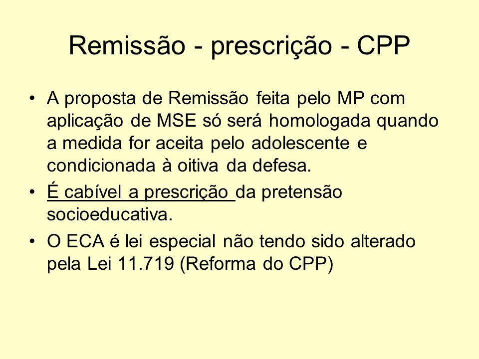 Remissão - prescrição - CPP
