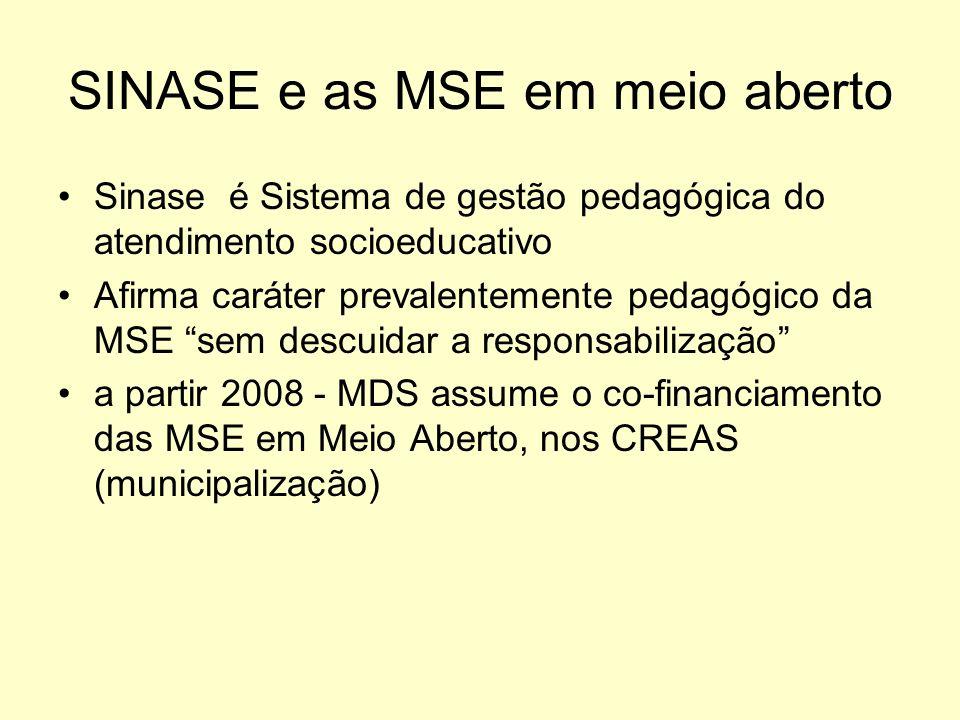 SINASE e as MSE em meio aberto
