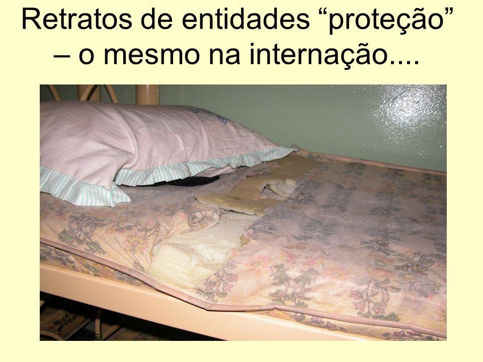 Retratos de entidades proteção – o mesmo na internação....