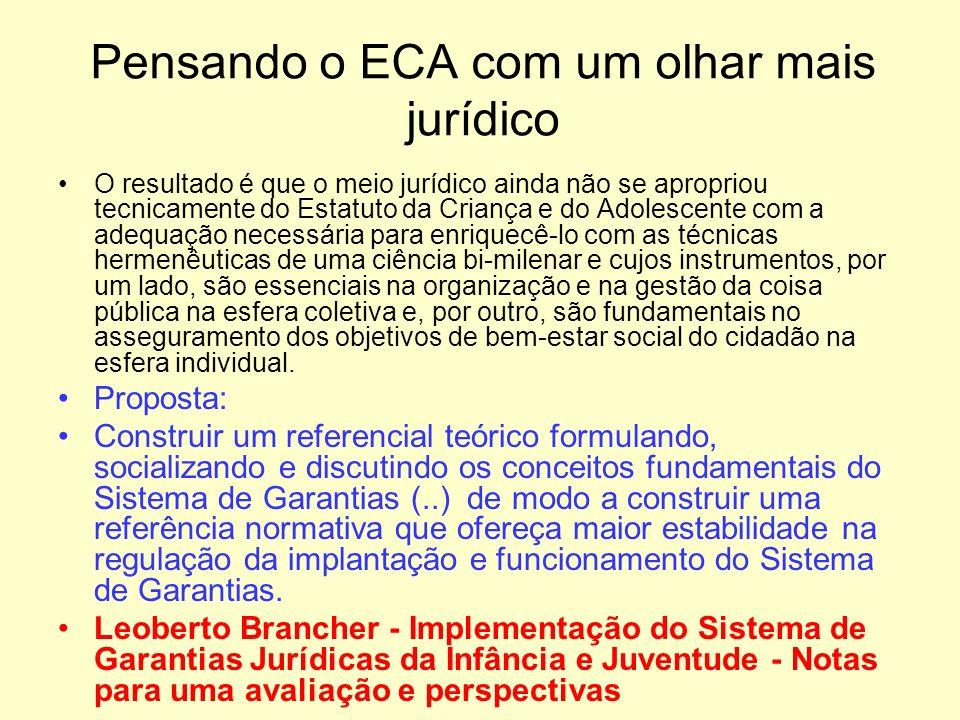 Pensando o ECA com um olhar mais jurídico