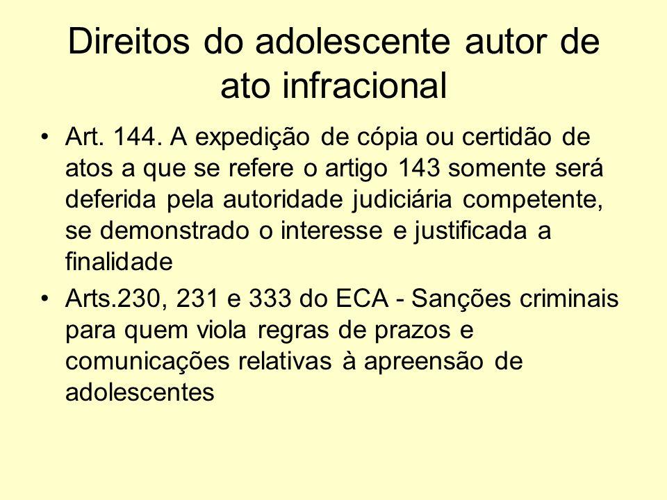 Direitos do adolescente autor de ato infracional