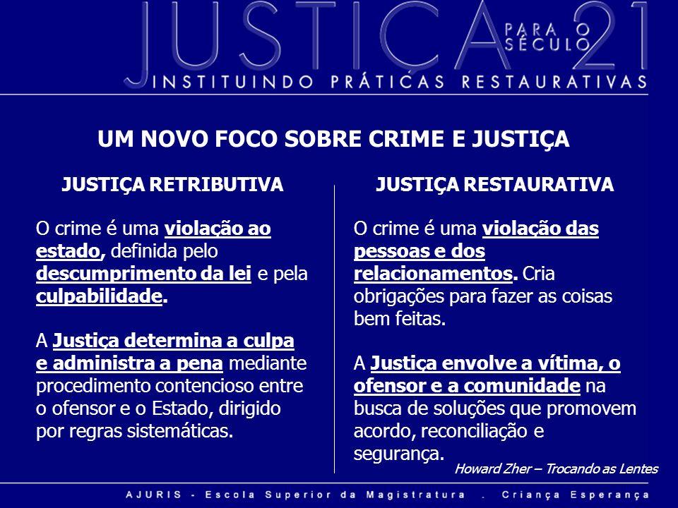 UM NOVO FOCO SOBRE CRIME E JUSTIÇA