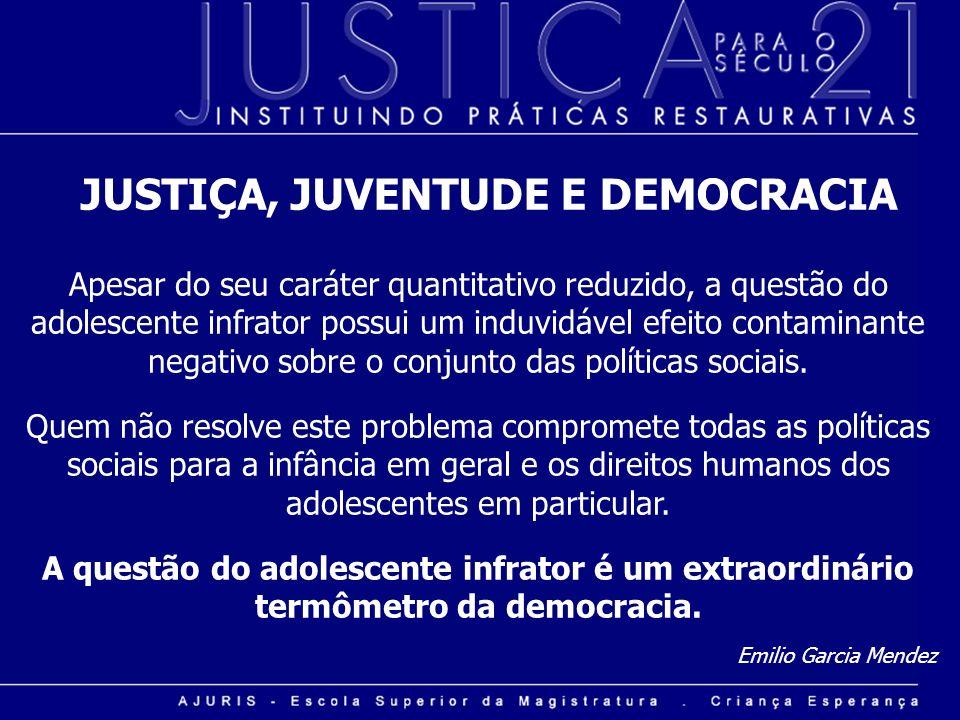 JUSTIÇA, JUVENTUDE E DEMOCRACIA