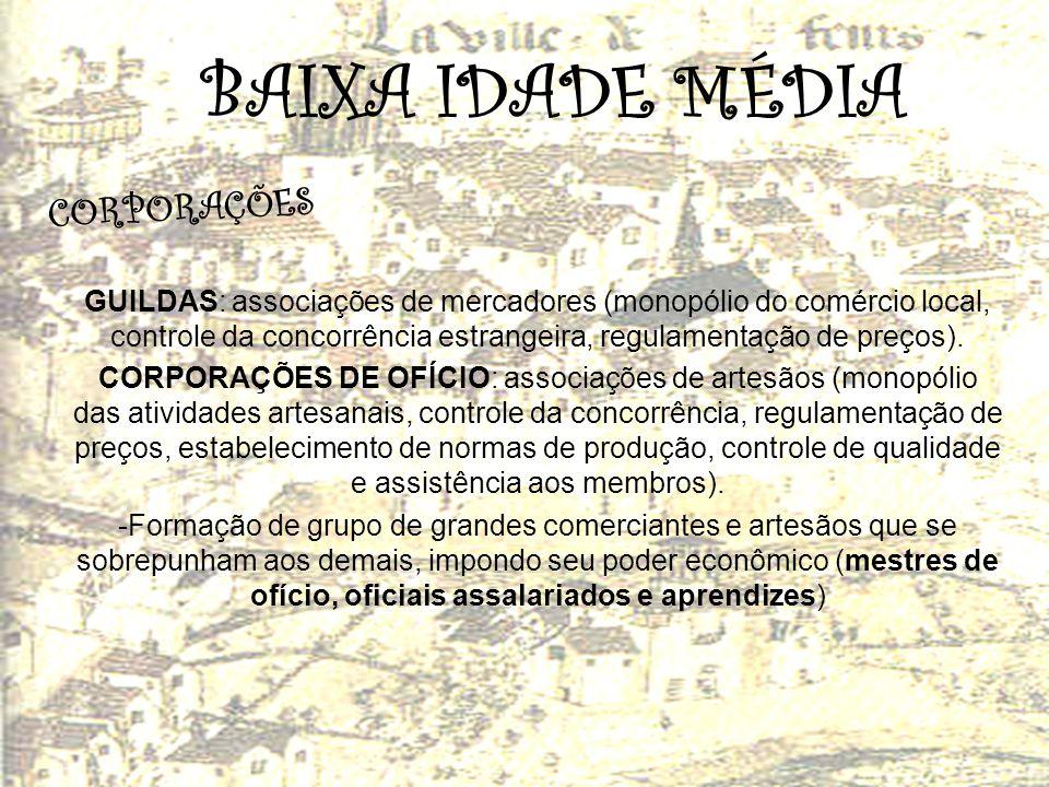 BAIXA IDADE MÉDIA CORPORAÇÕES