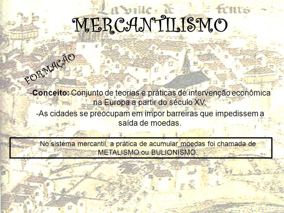 MERCANTILISMO FORMAÇÃO
