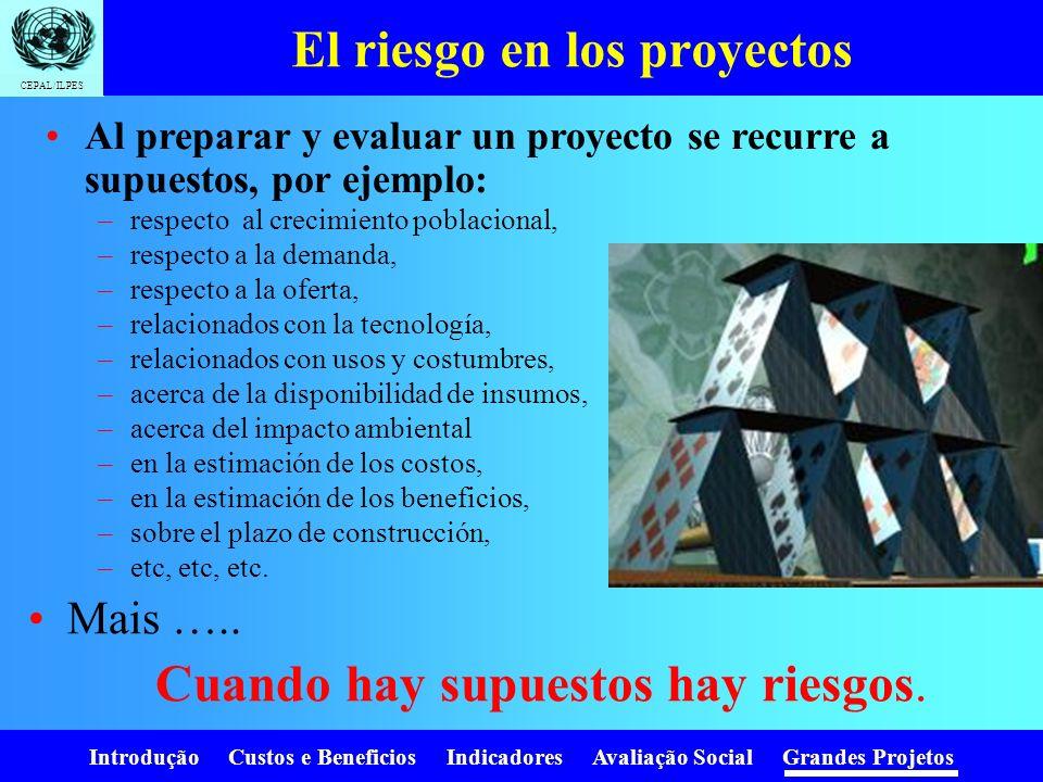 El riesgo en los proyectos