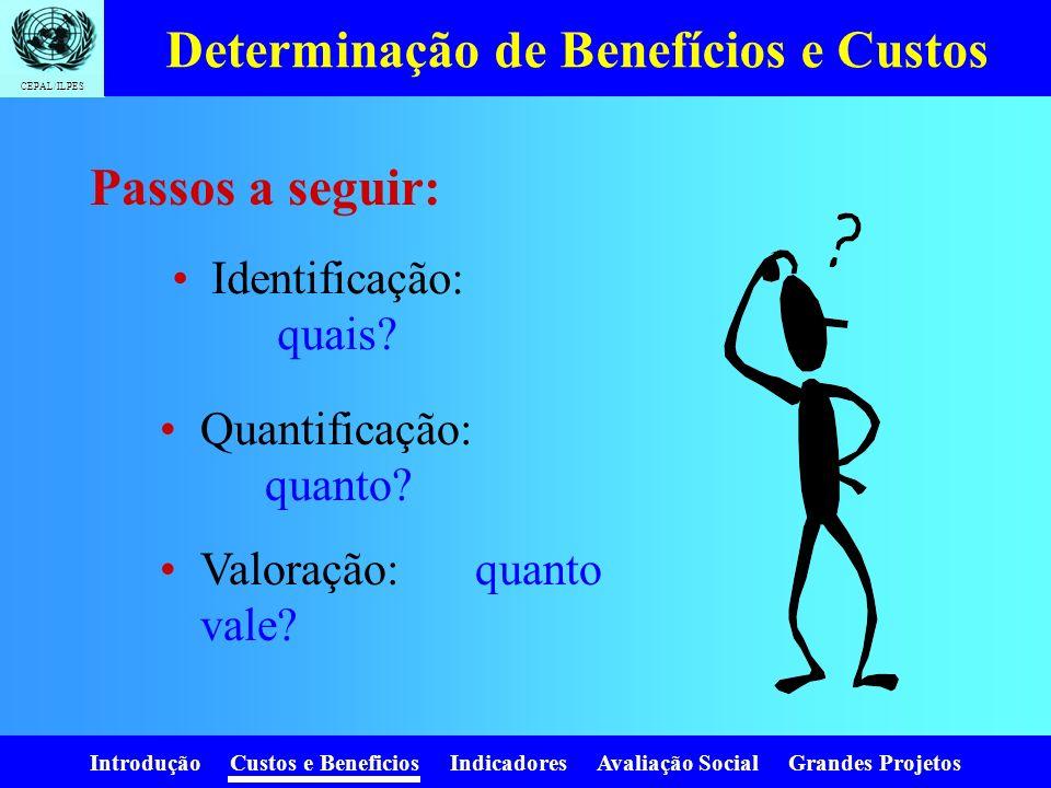 Determinação de Benefícios e Custos