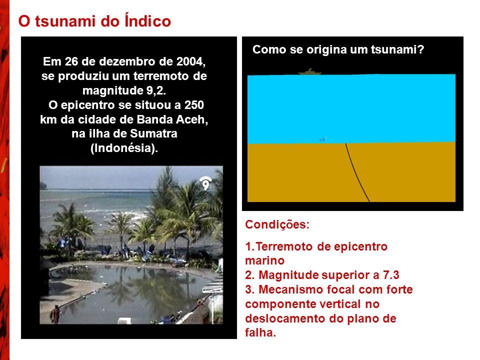 O tsunami do Índico Como se origina um tsunami