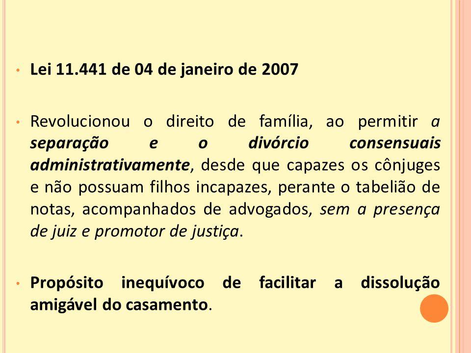 Lei 11.441 de 04 de janeiro de 2007
