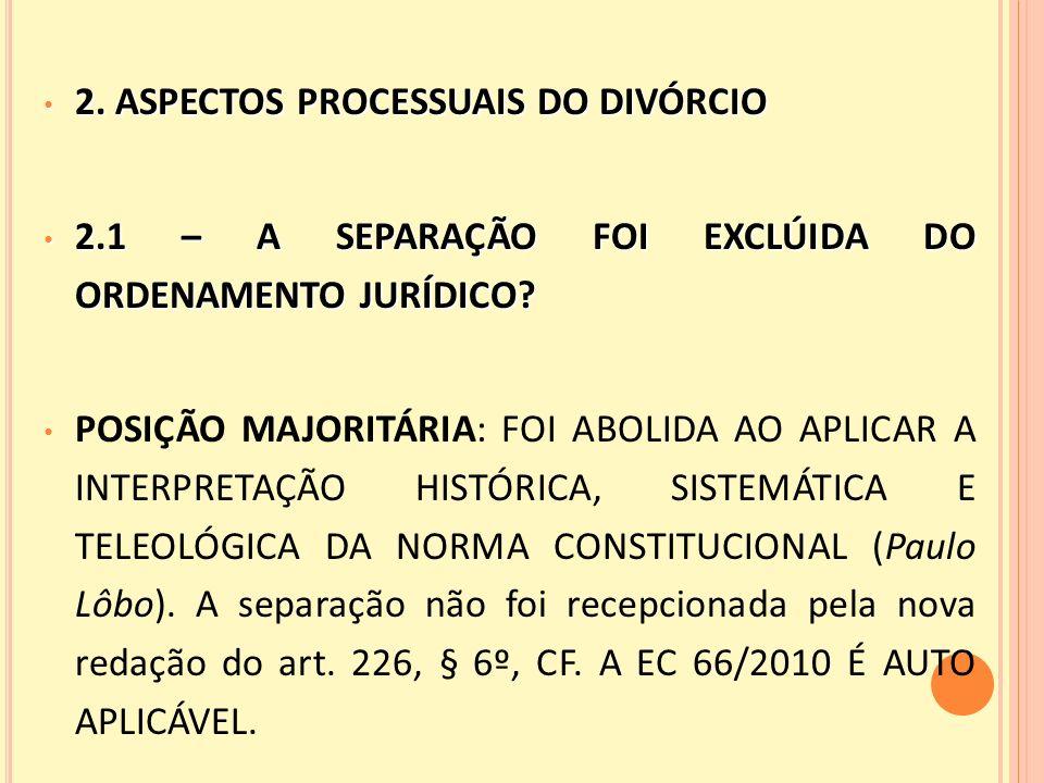 2. ASPECTOS PROCESSUAIS DO DIVÓRCIO