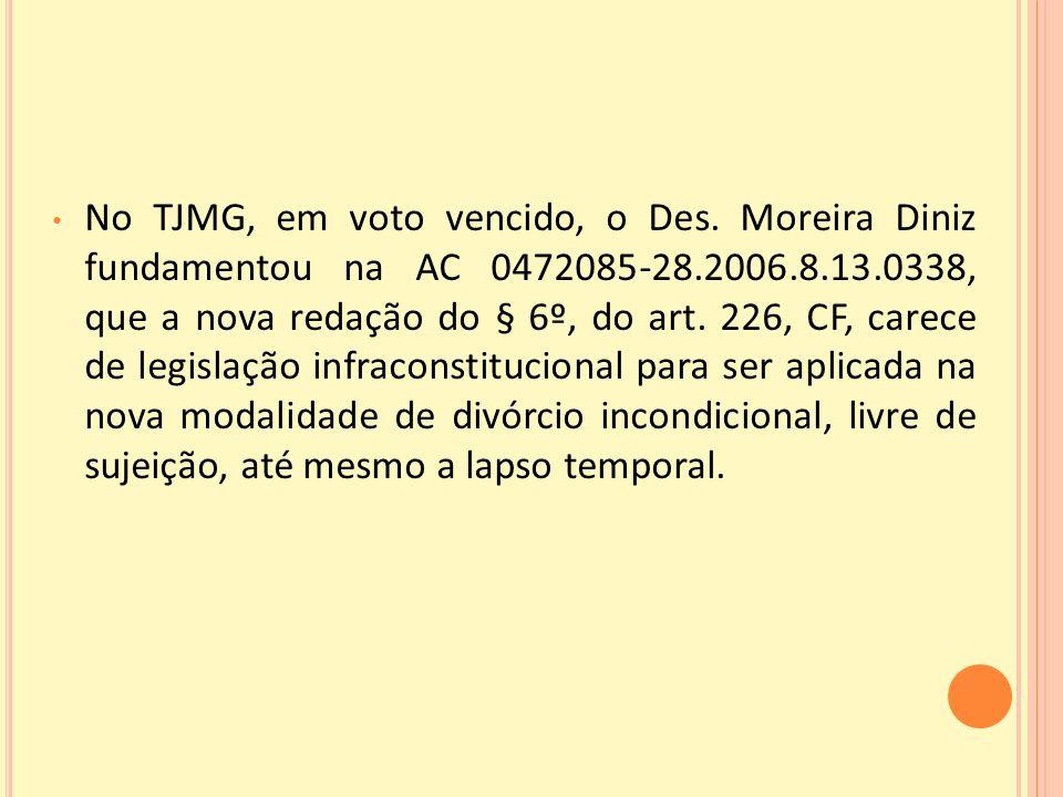 No TJMG, em voto vencido, o Des
