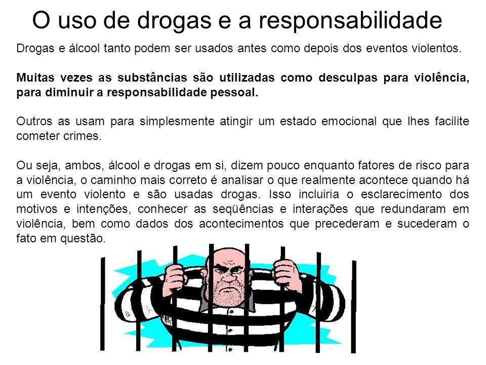 O uso de drogas e a responsabilidade
