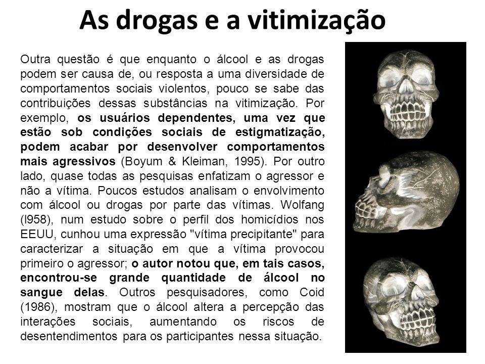 As drogas e a vitimização