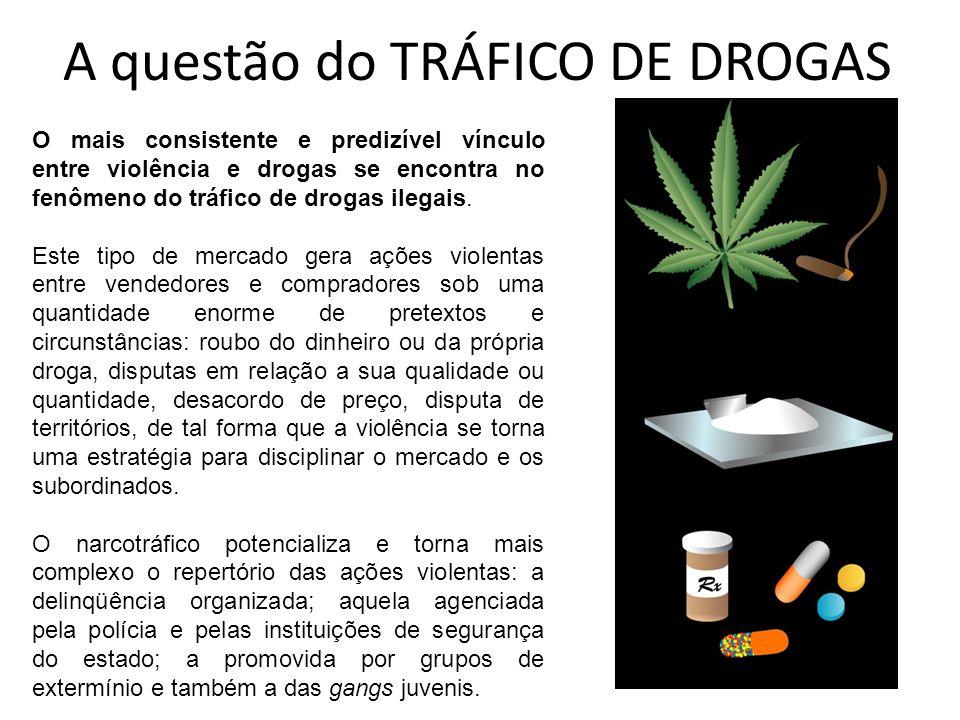 A questão do TRÁFICO DE DROGAS