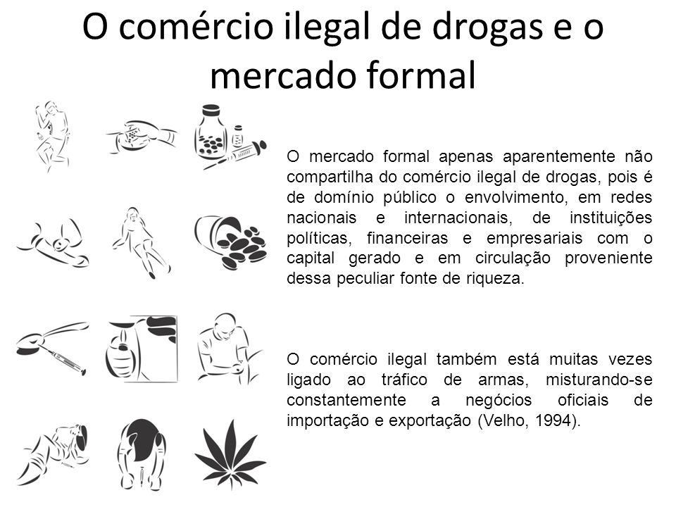O comércio ilegal de drogas e o mercado formal