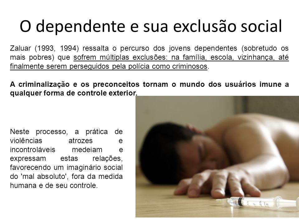 O dependente e sua exclusão social