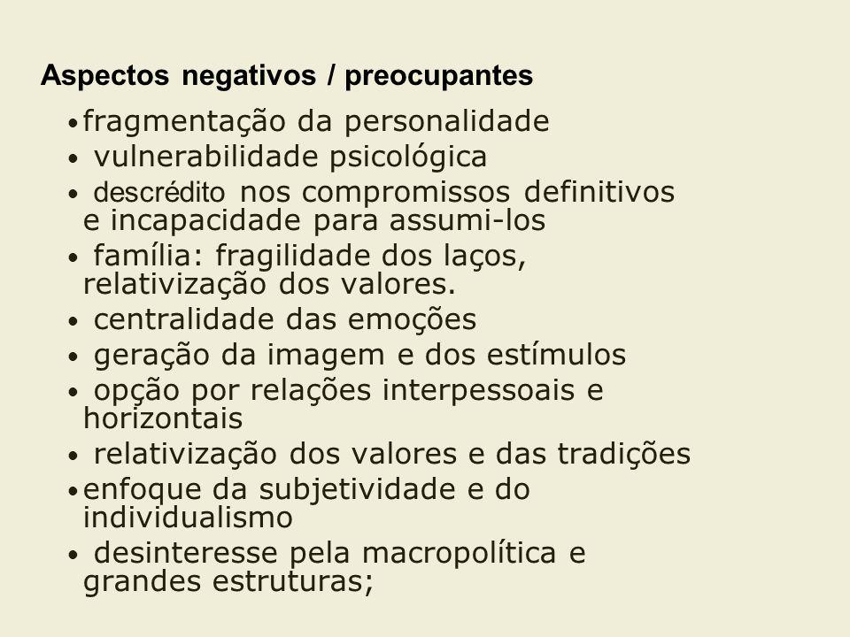 Aspectos negativos / preocupantes