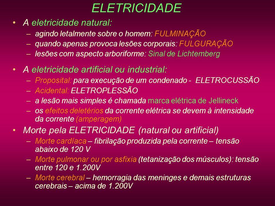 ELETRICIDADE A eletricidade natural: