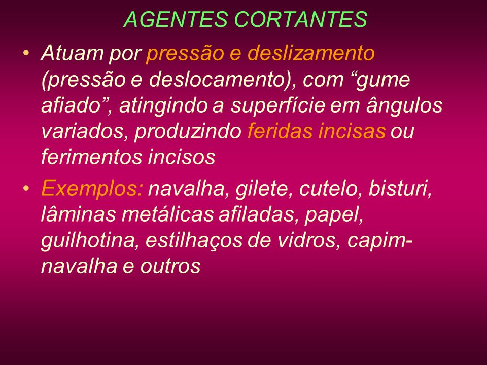 AGENTES CORTANTES