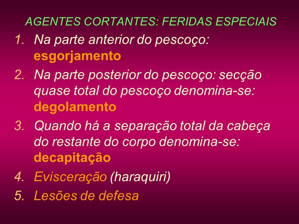 AGENTES CORTANTES: FERIDAS ESPECIAIS