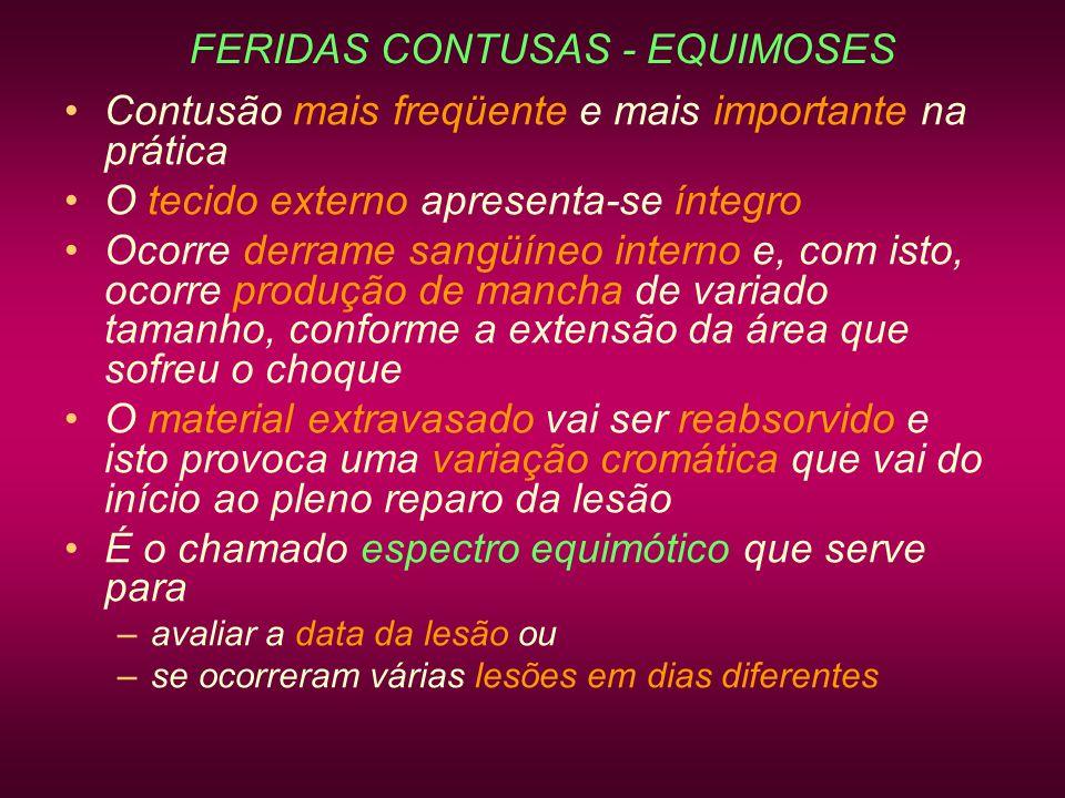 FERIDAS CONTUSAS - EQUIMOSES