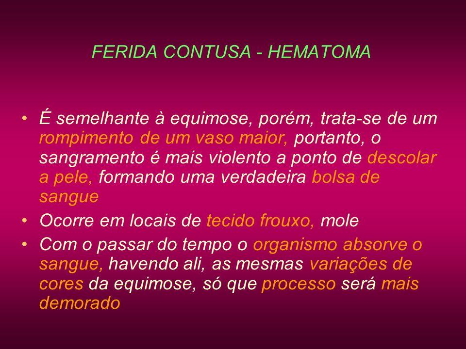 FERIDA CONTUSA - HEMATOMA