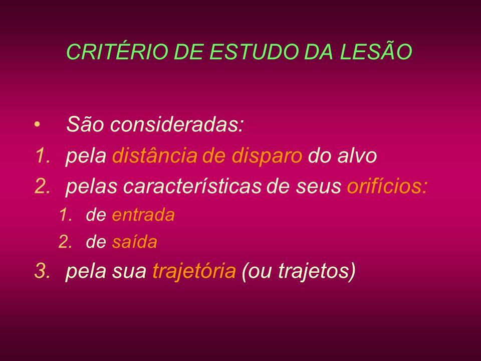 CRITÉRIO DE ESTUDO DA LESÃO