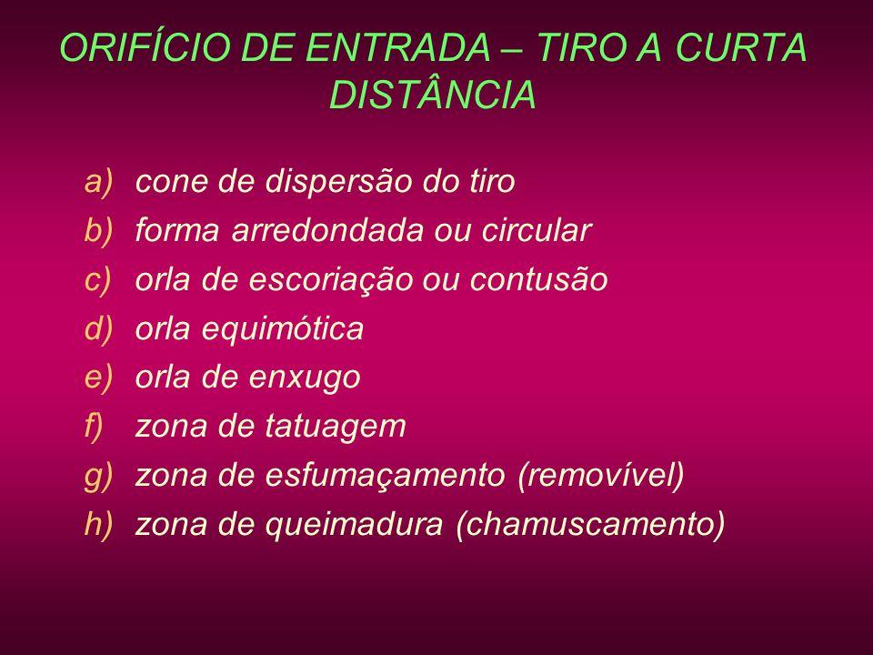 ORIFÍCIO DE ENTRADA – TIRO A CURTA DISTÂNCIA