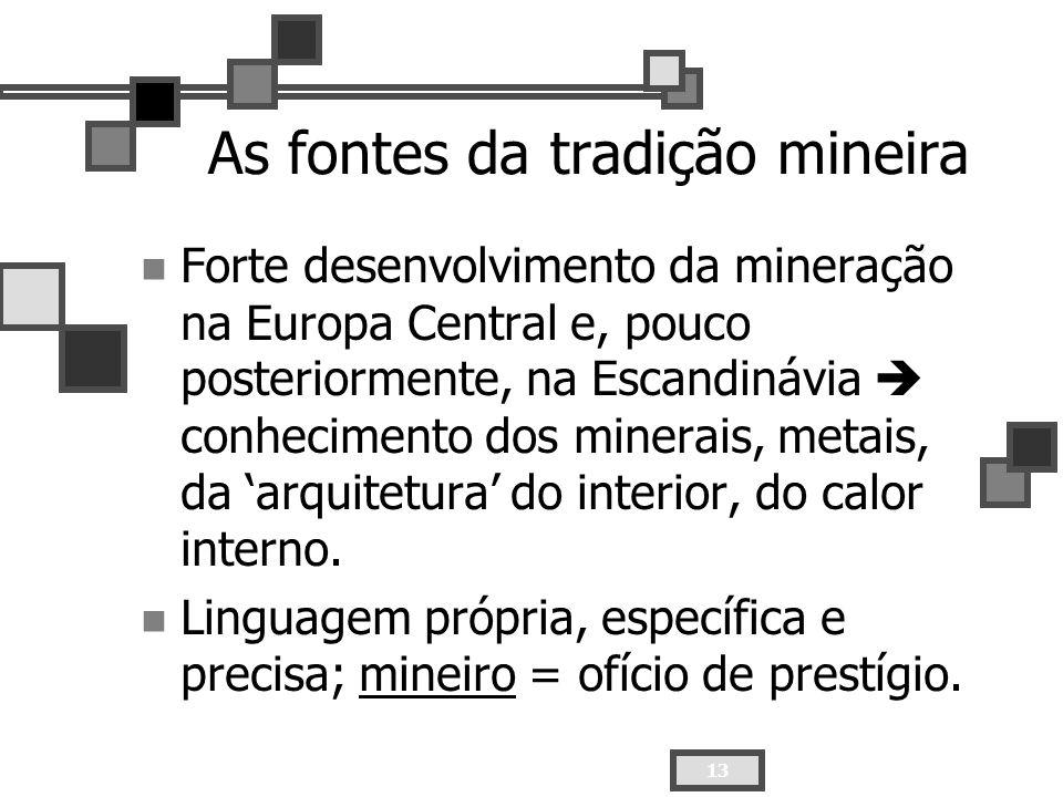 As fontes da tradição mineira