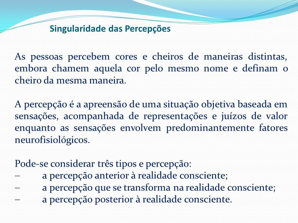 Singularidade das Percepções