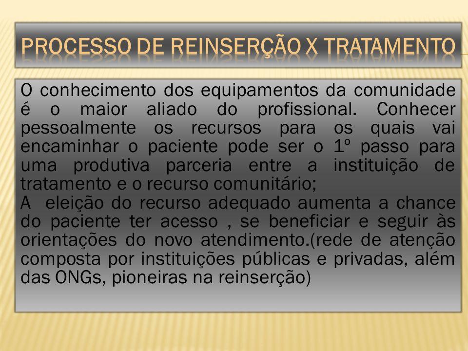 PROCESSO DE REINSERÇÃO X TRATAMENTO