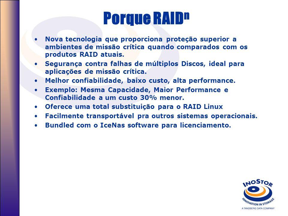Porque RAIDnNova tecnologia que proporciona proteção superior a ambientes de missão crítica quando comparados com os produtos RAID atuais.