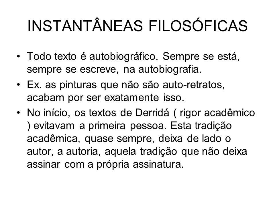 INSTANTÂNEAS FILOSÓFICAS
