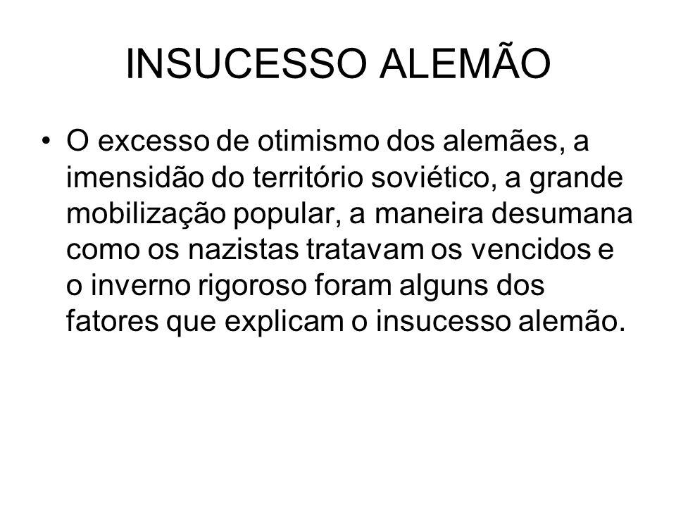 INSUCESSO ALEMÃO