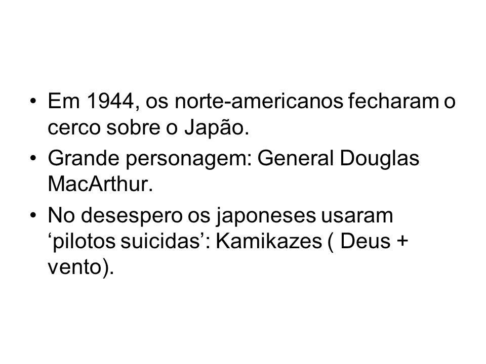 Em 1944, os norte-americanos fecharam o cerco sobre o Japão.
