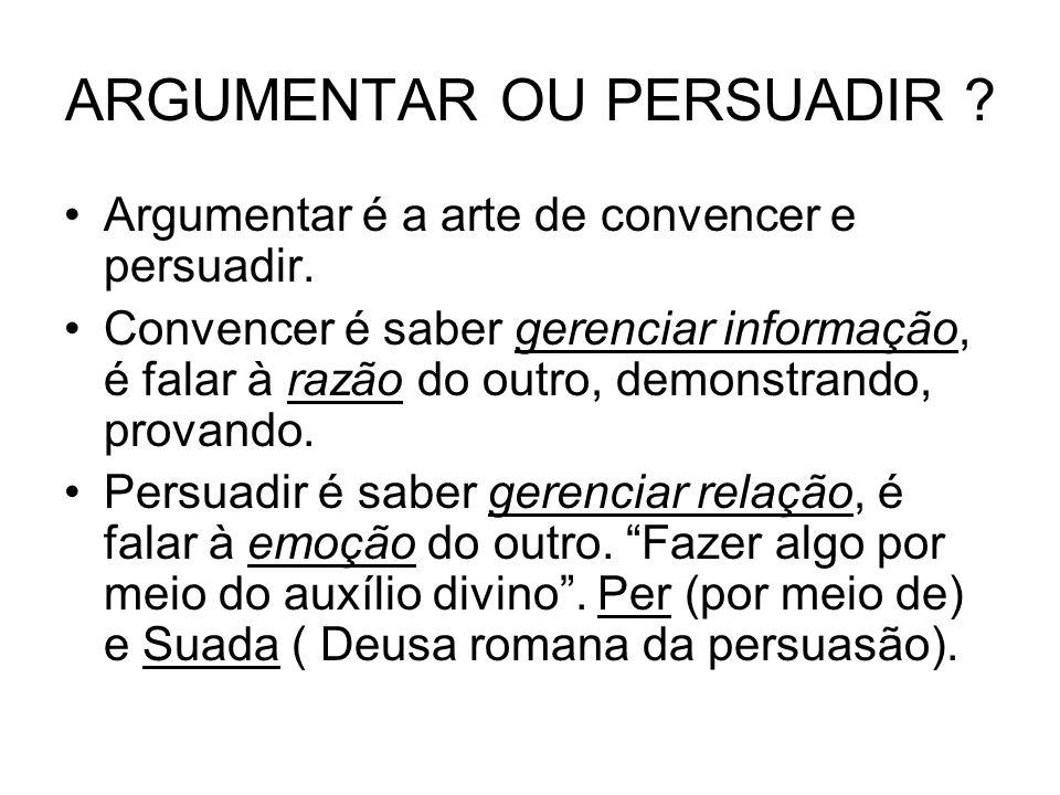ARGUMENTAR OU PERSUADIR