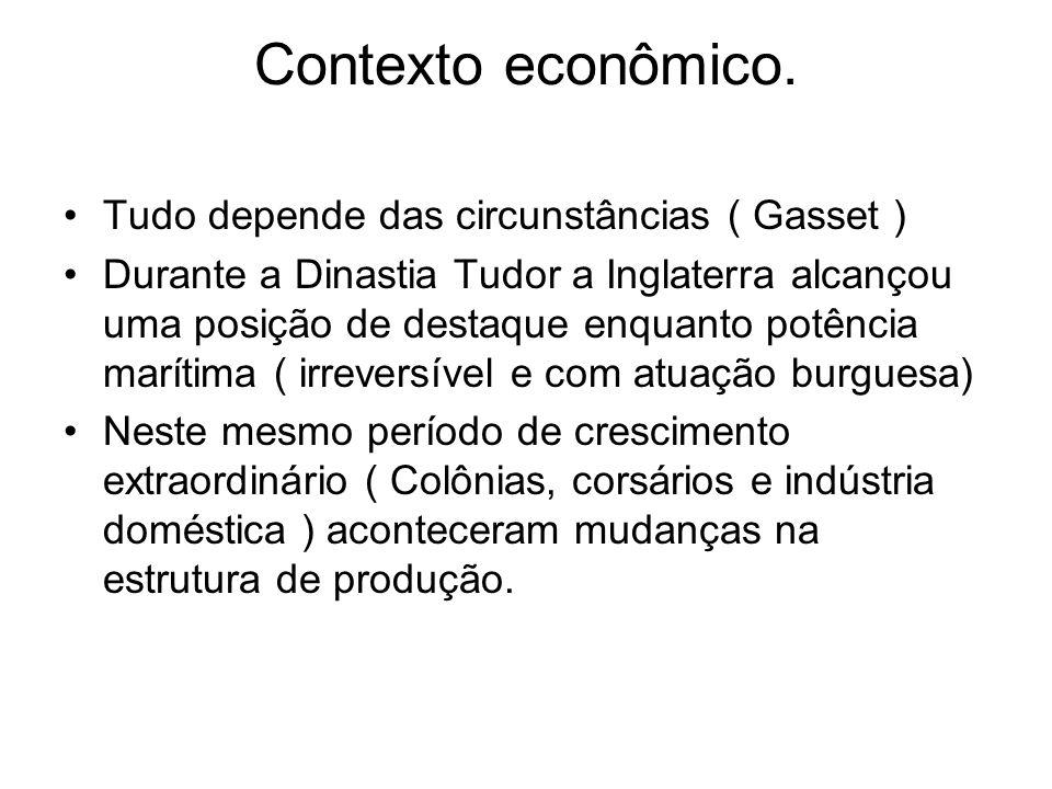 Contexto econômico. Tudo depende das circunstâncias ( Gasset )