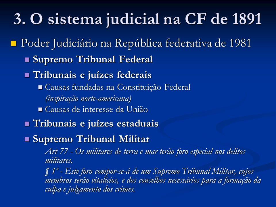 3. O sistema judicial na CF de 1891