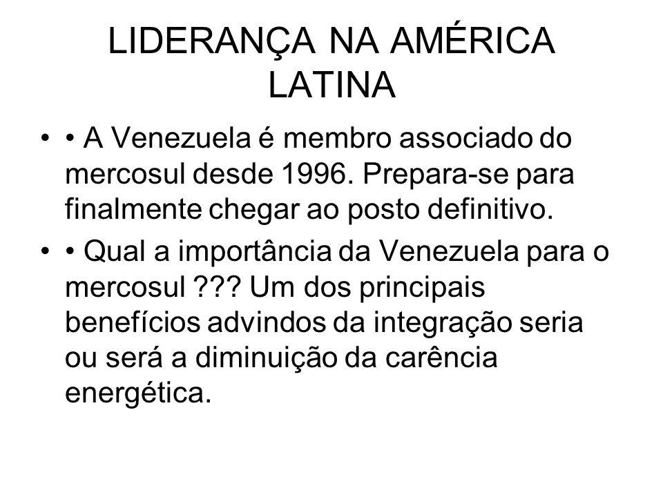 LIDERANÇA NA AMÉRICA LATINA