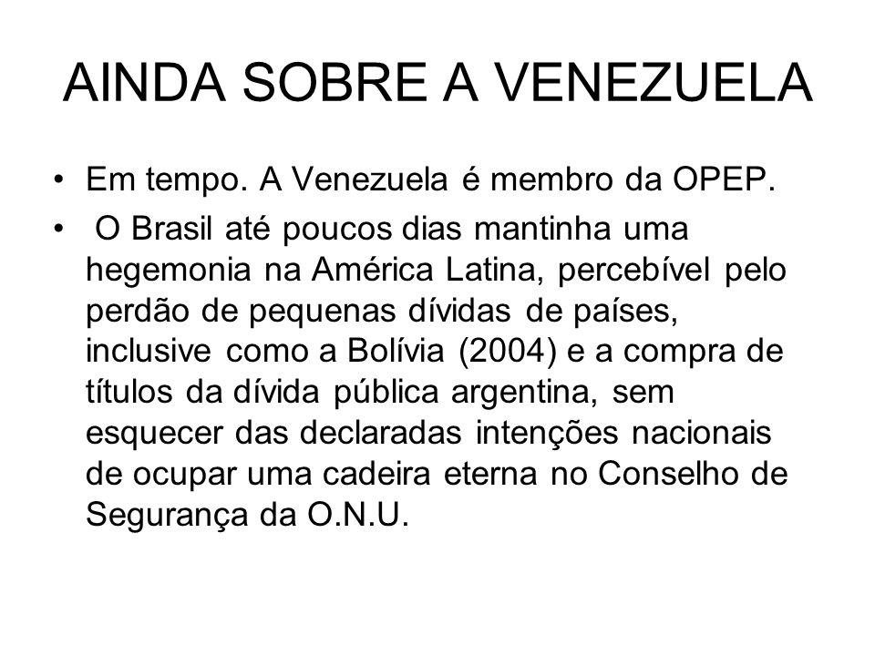 AINDA SOBRE A VENEZUELA
