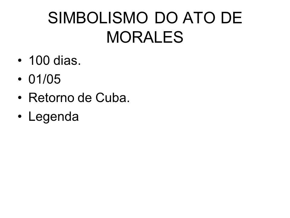SIMBOLISMO DO ATO DE MORALES