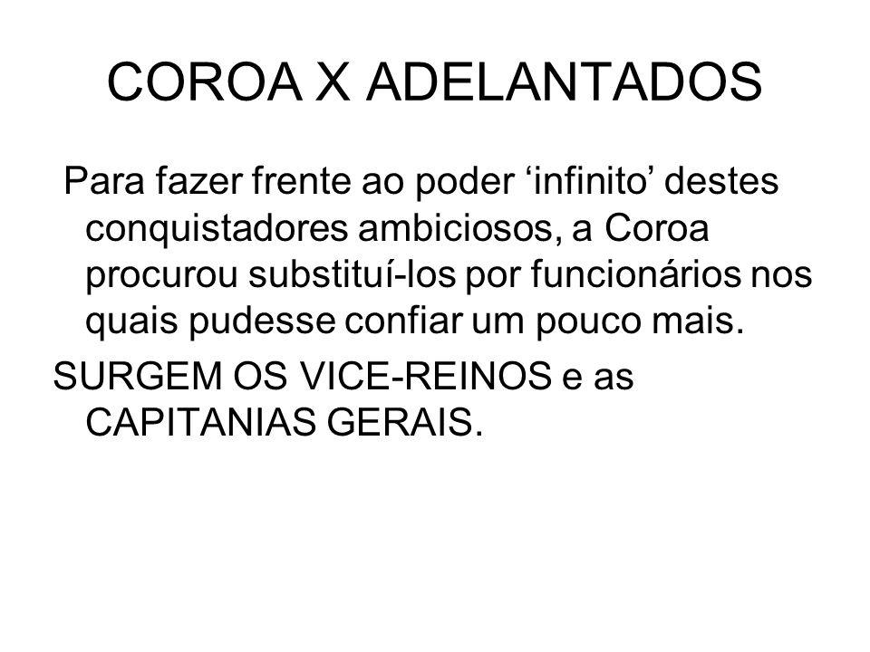 COROA X ADELANTADOS