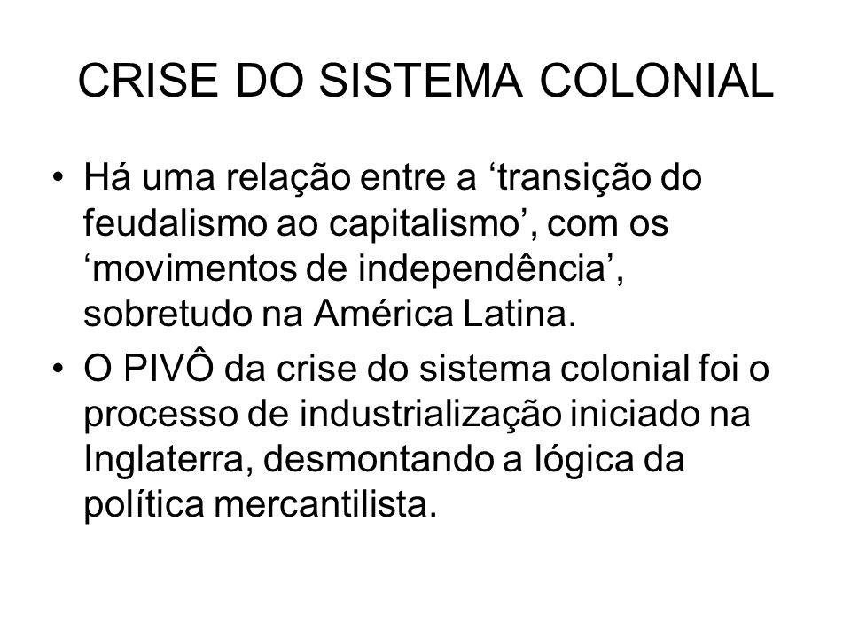 CRISE DO SISTEMA COLONIAL