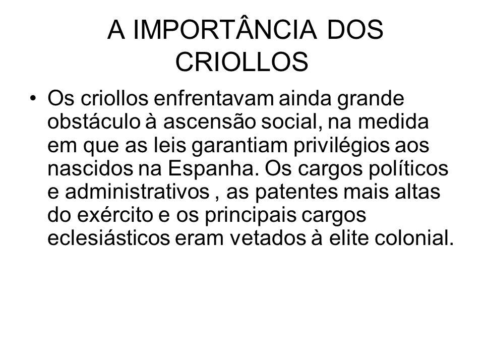 A IMPORTÂNCIA DOS CRIOLLOS