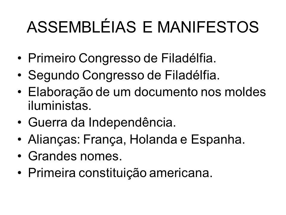 ASSEMBLÉIAS E MANIFESTOS