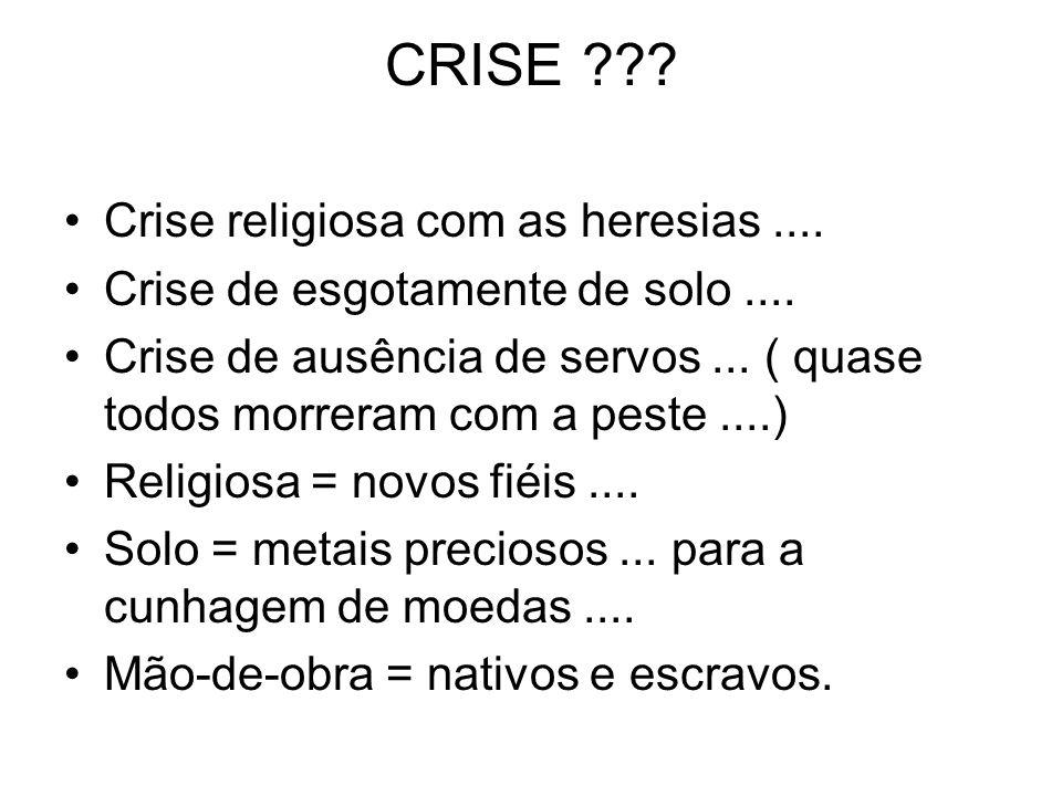 CRISE Crise religiosa com as heresias ....